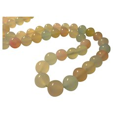Pastel Gemstone Bead Necklace, 22""