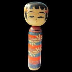 "3 1/2"", Mini Striped Naruko Japanese Kokeshi Doll"