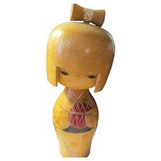 "6 1/4"", Usaburo Japanese Kokeshi Doll in Light Wood"