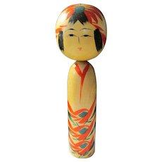 "6"", Naruko Style Japanese Girl Kokeshi Doll"