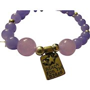 Sterling Silver Amy Peters Charm Bracelet with Lavender-Purple Gemstone Beads