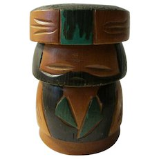 """3 3/4"""", Rare Vintage Kokeshi of an Ainu Tribesman, the Indigenous Peoples of Japan"""