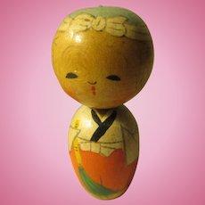 "1 3/4"", Young Bonsan Priest Japanese Kokeshi Doll"
