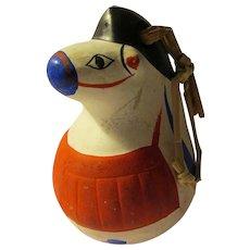 "Japanese Warrior Horse ""Dorei"" Clay Bell, 2 1/2"""