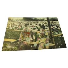 Vintage Photo-Postcard of Two Japanese Maidens