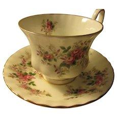 """Lavender Rose"" Teacup and Saucer Set by Royal Albert"