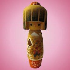 "6 1/2"", Japanese Snow Country Girl Kokeshi Doll"