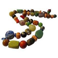 """""""Fruit Salad"""" Multi-Gemstone Mixed Bead Necklace, 28"""""""