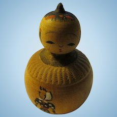 "1 1/2"", Toy Kokeshi Doll for Farm Mother's Child"