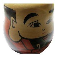 "Vintage Kokeshi Boy with Big Ear Lobes, 3 1/4"""