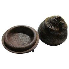 Japanese Rustic Pottery Incense Burner with Snake Motif