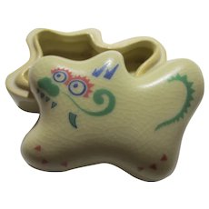 Chinese Foo Dog Ceramic Incense Vessel