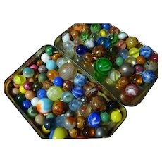 Huge Lot of Really Old Marbles of All Types