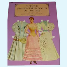 Free shipping--Antique Fashion Paper Dolls of the 1890's