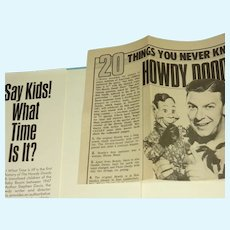 Ship FREE, Howdy Doody--Say Kids! What Time is it