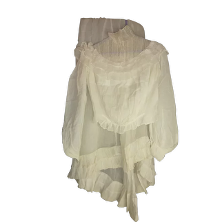 Edwardian Whites, Gorgeous 2 Piece with Ruffles