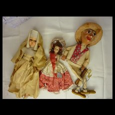 Lot of 2 dolls and 1 puppet