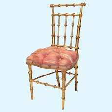 """11"""" French Gilded Salon Chair"""
