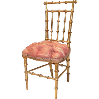 "11"" French Gilded Salon Chair"