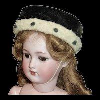 Antique Hat with Faux Ermine Trim