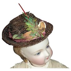 Brown Straw French Fashion's Hat