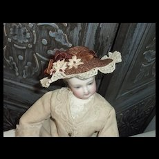 Summer Hat with Lace Trim for French Fashion or Child
