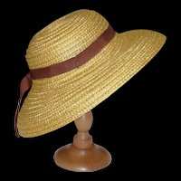 Straw Hat for Antique to Modern Doll