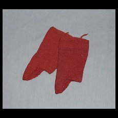 Hand Knit Red Wool Spats