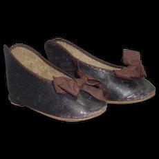 Rare #15 Jumeau Bebe Shoes, Large and Early