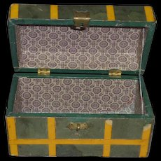 """Paper Covered Small Trunk, 6"""" long x 3 1/4"""" deep x 3 1/2"""" high"""
