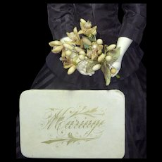 "Original Wax Bouquet in French ""Mariage"" Box for French Fashion"