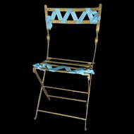 19th Century Metal Folding Garden Chair for French Fashion or Bebe