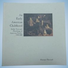 1995 Catalog:  An Early American Childhood, 1780-1880