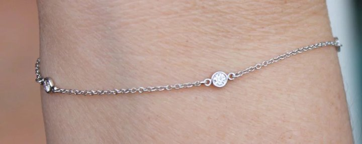 6500f2076 Platinum & Diamond Tiffany & Co Diamonds By The Yard Bracelet Estate VVS1,  F Color
