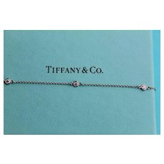 Platinum & Diamond Tiffany & Co Diamonds By The Yard Bracelet Estate VVS1, F Color