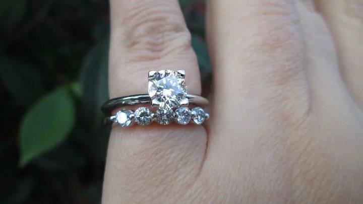 23b17180c Tiffany & Co. GIA VVS1 Certified Diamond Engagement Ring, Wedding Set