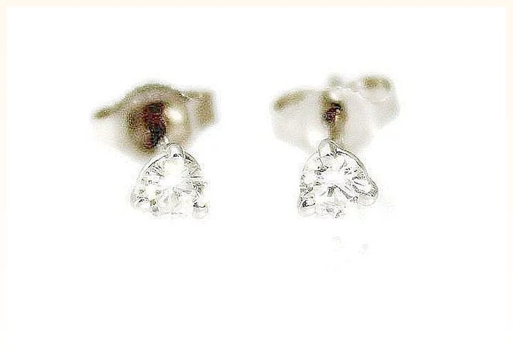 princess p platinum stud diamond i asp cut earrings