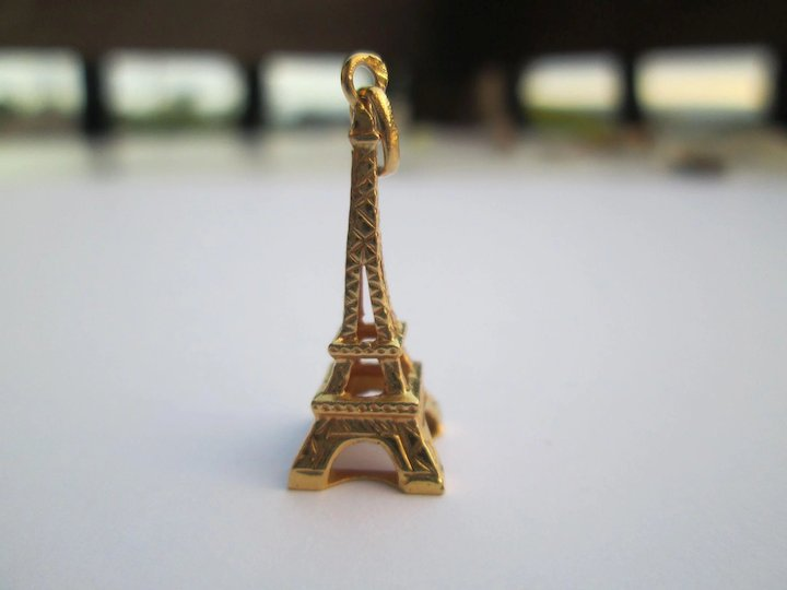 be74ed622 14K Gold Eiffel Tower Charm Vintage Estate : Bella Antiques and ...
