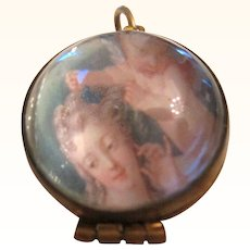 Victorian  Locket Pools Of Light Rock Crystal Pendant Orb 10k