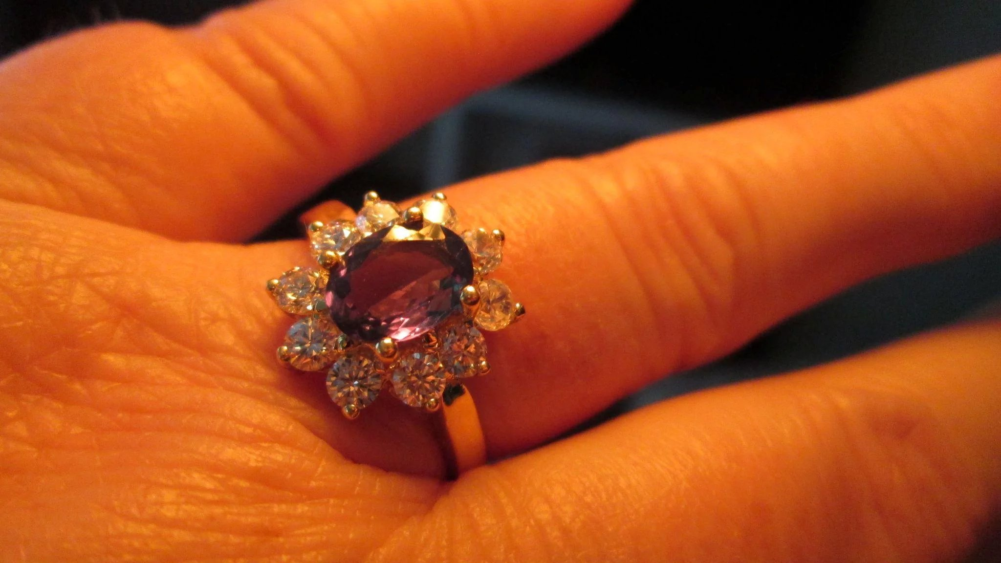 Alexandrite Diamond Ring Gia Certified Natural In 18k 2 03 Ctw Bella Antiques And