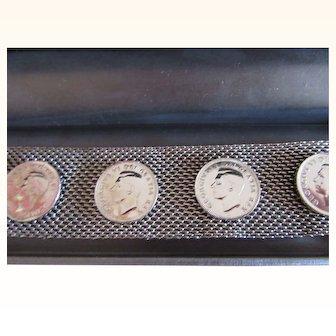 1940's Canadian Coin Mesh Bracelet Mid Century Retro Jewelry