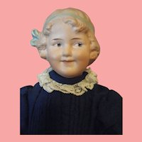 """RARE Gebruder Heubach 7768 """"Coquette"""" Girl Antique Doll 11 3/4 tall"""