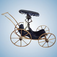 German Doll Carriage Pram Circa 1880