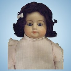 Antique German Papier Mache Shoulder Head Doll