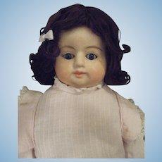 Antique German Papier Mache Shoulder Head Doll