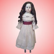 Rare Double Rows Teeth Wax Over Papier Mache Doll All Original