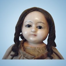 English Wax Head Crazy/Mad Alice Doll circa 1835