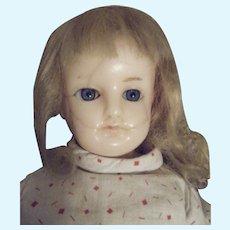 German Wax Head Doll Antique
