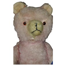 Pink Teddy Bear Antique Rare 16 inches tall
