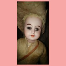 German Bisque Head Rough Rider Antique Doll